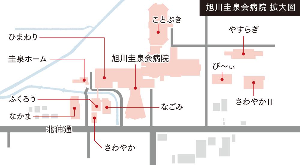 病院配置図